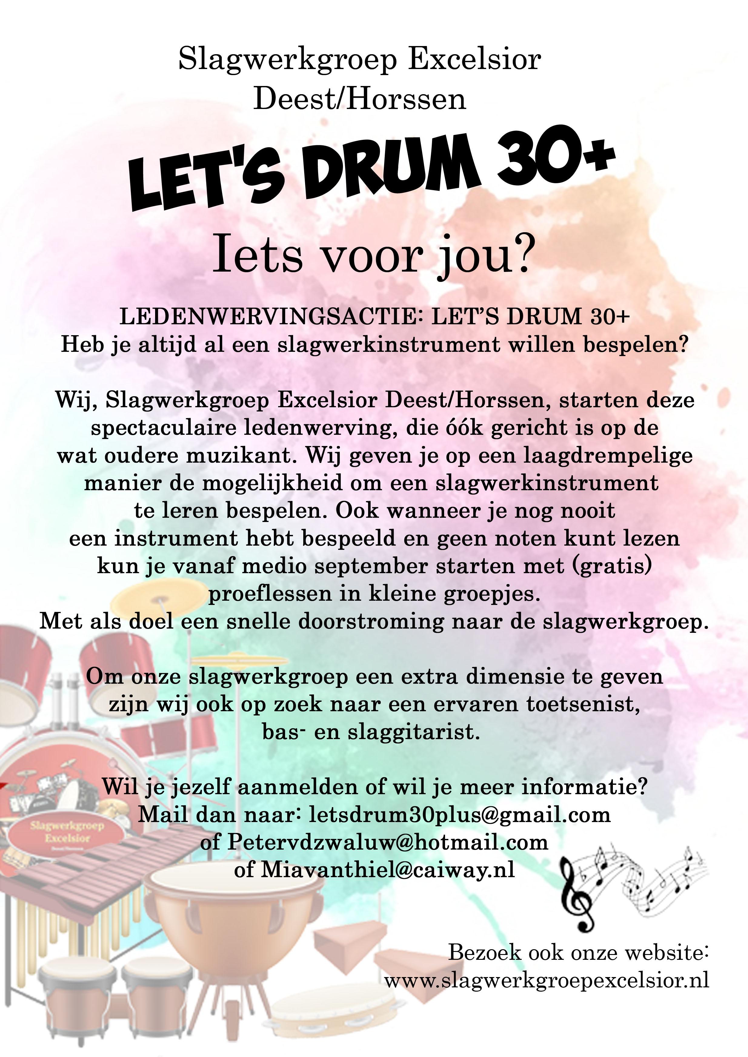 Let's drum 30+